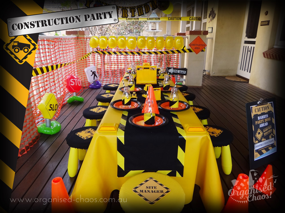 Construction Kids Party Organised Chaos
